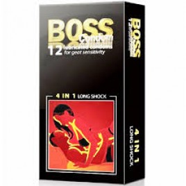 Bao cao su Boss 4 in 1 - 4 yếu tố cho 1 cuộc yêu hoàn hảo.