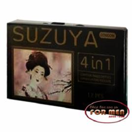 Cùng vợ yêu tận hưởng khoái cảm với  Bao Cao Su SUZUYA 4 IN 1